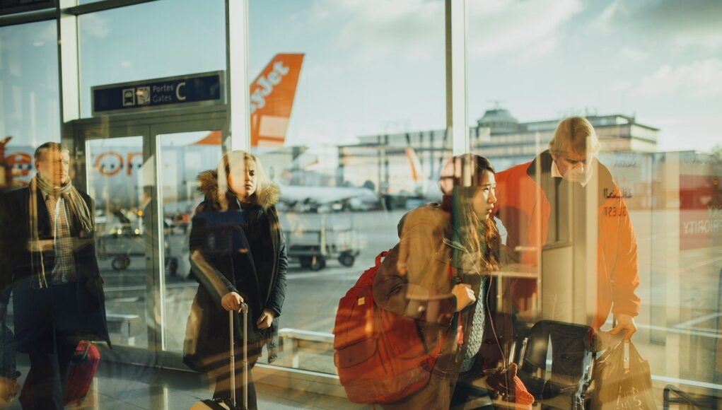 Airport Travelers Persons Business Flight People