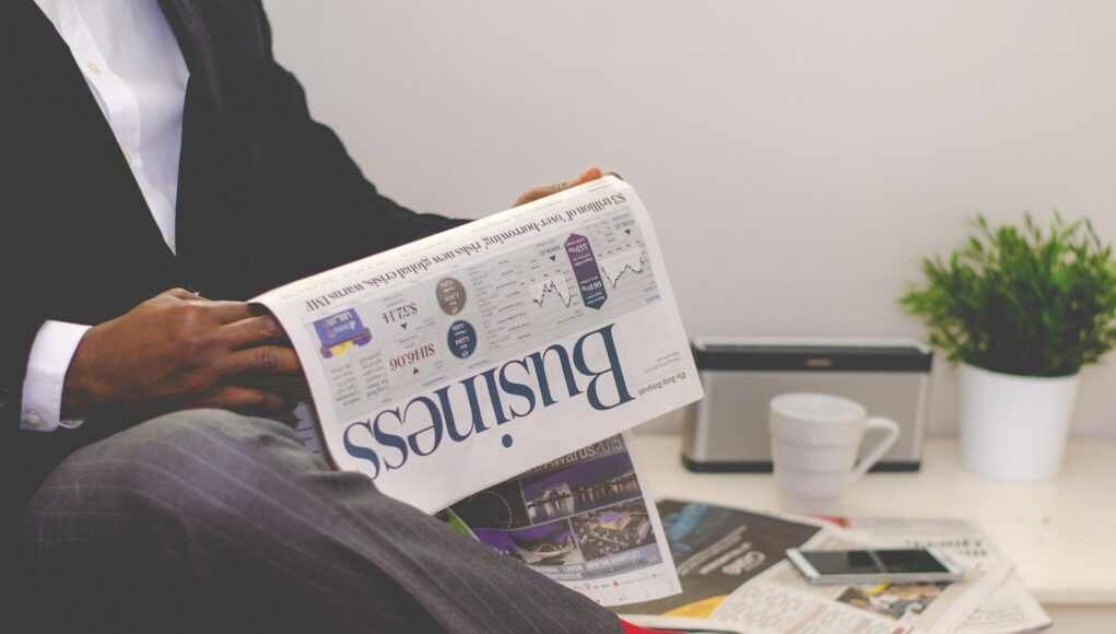 Businessman Newspaper Business Man News Male