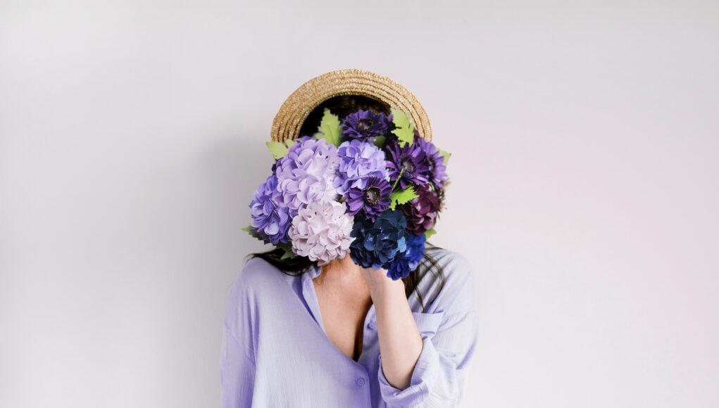 Hydrangea Paper Flowers Purple Romantic